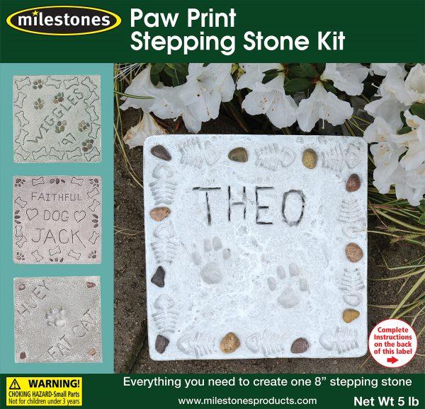 Paw Print Stepping Stone Kit
