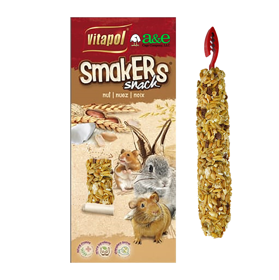 A&E, Vitapol Small Animals Smakers, Nut, 2 Pack | Alsip Home & Nursery