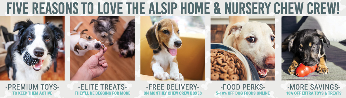 Five Reasons to Love the Alsip Home & Nursery Chew Crew!