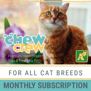 Alsip Chew Crew Premium Hand-Picked Toys & Treats for All Cat Breeds - Monthly Subscription
