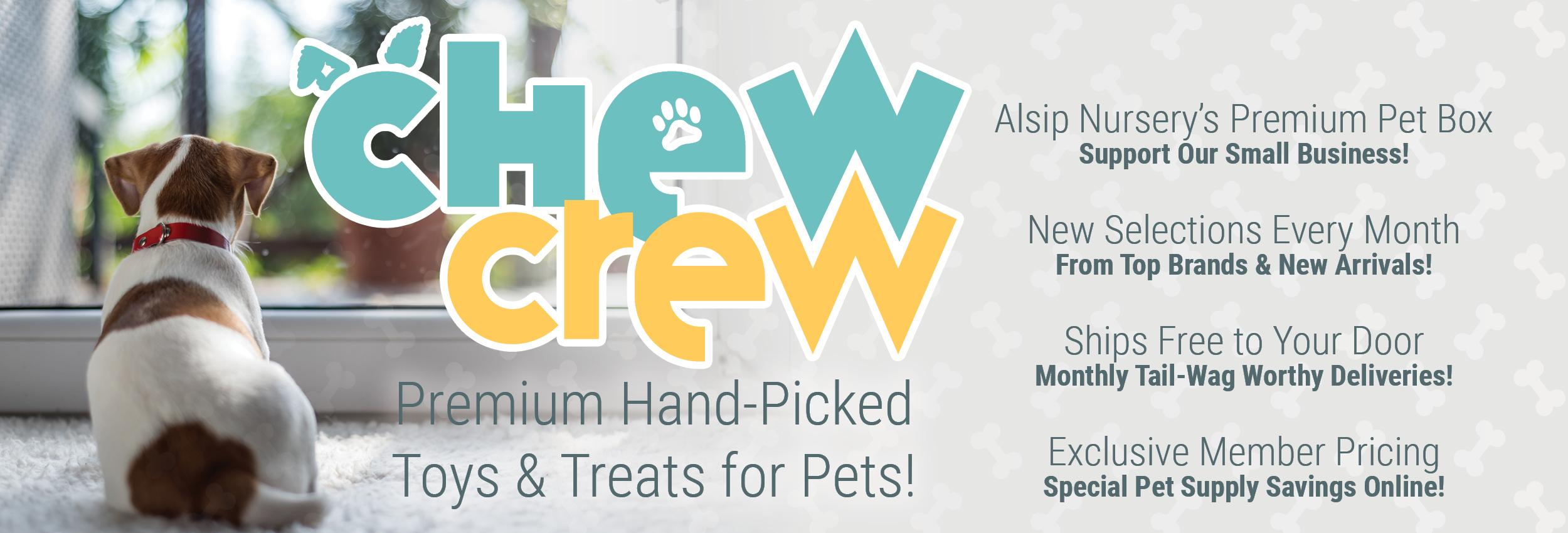 Chew Crew Premium Hand-Picked Toys & Treats for Pets
