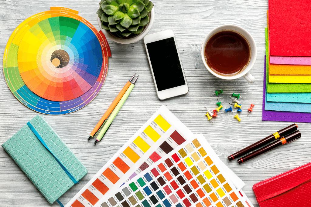 color wheel choosing color on desk alsip nurseries