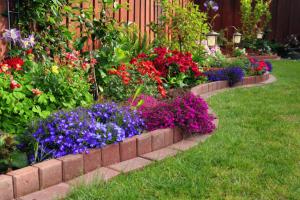 beautiful color garden bed in the summertime alsip