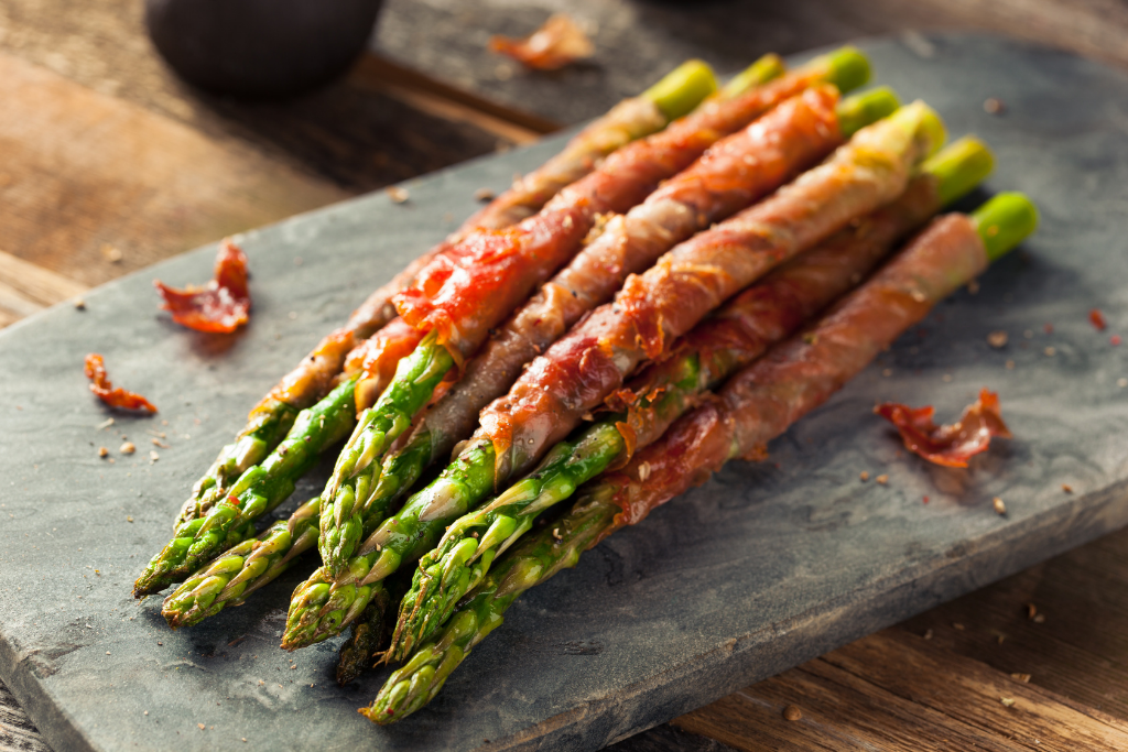 yummy bacon wrapped asparagus that was grilled on the bbq fathers day dinner ideas alsip nurseries