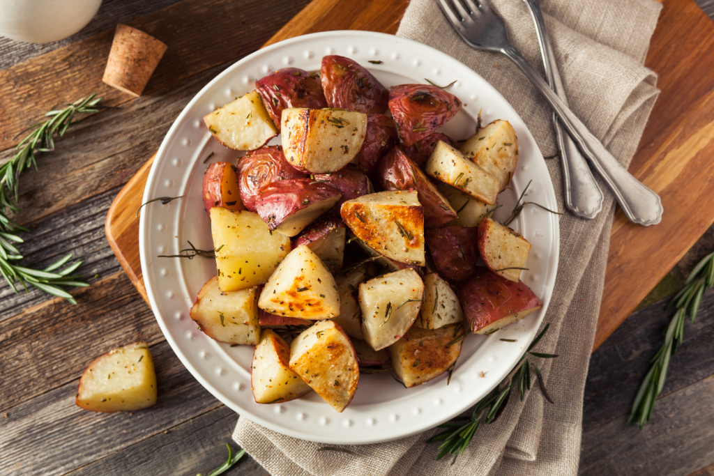 yummy thyme and garlic butter potatoes from the grill fathers day dinner ideas alsip nurseries